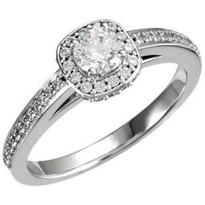 1.91 carat round diamonds solitaire with accents r